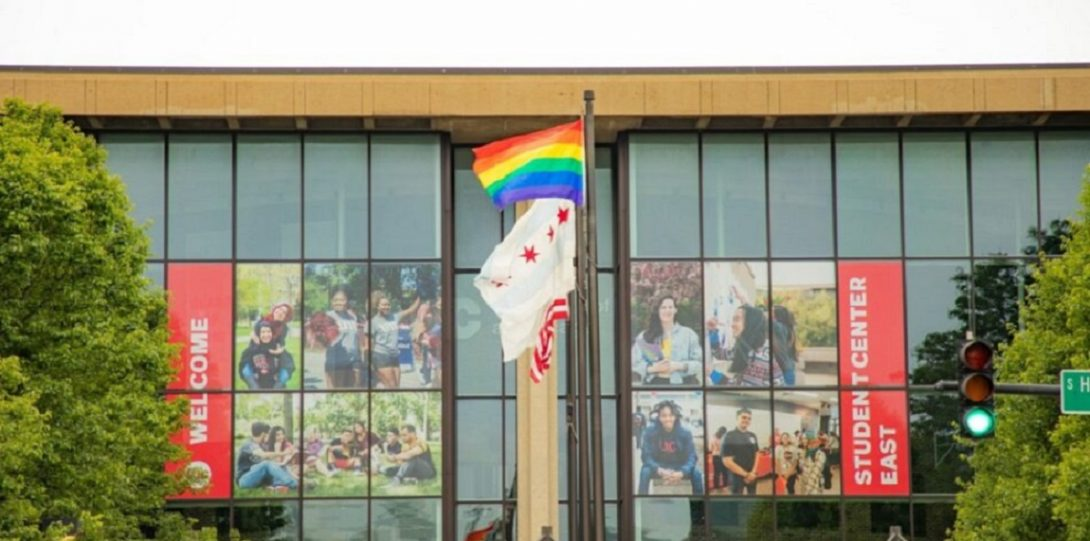 UIC Flies Pride Flag in June 2019